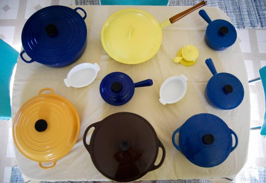 vintage le creuset, le creuset, descoware, cousances, vintage cast iron enamelware