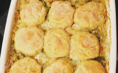 Chicken Biscuit Pot Pie Recipe - Life Full and Frugal