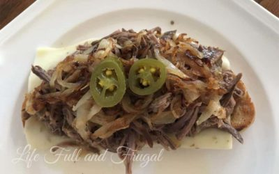 Open-Faced Jalapeño Beef Sandwich