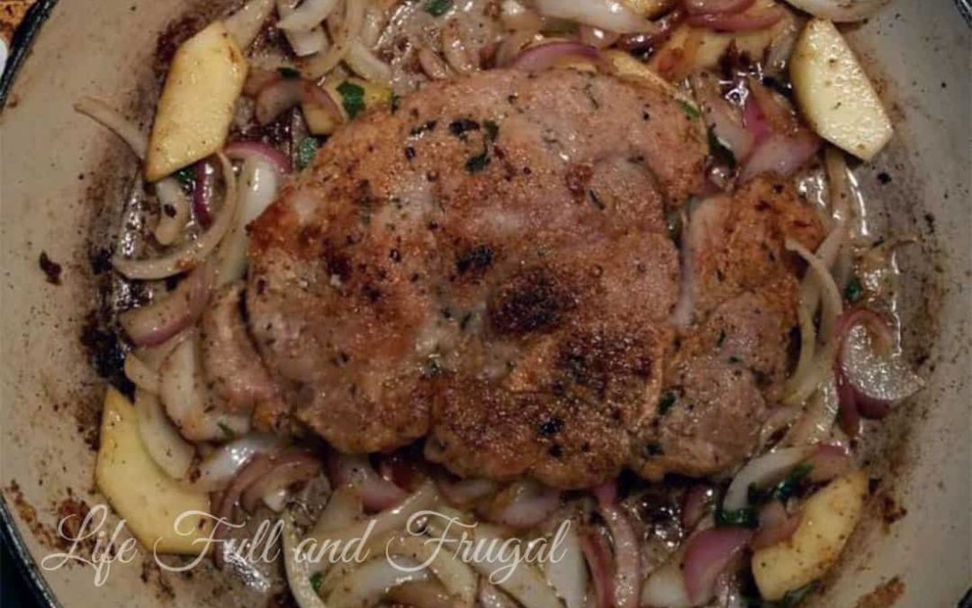 Pan Fried Pork Chops with Apples