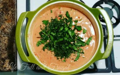 Tomato Basil Soup Recipe - Life Full and frugal