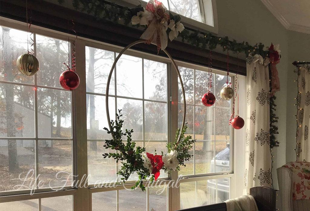 Christmas Hoop Wreath - Life Full and Frugal