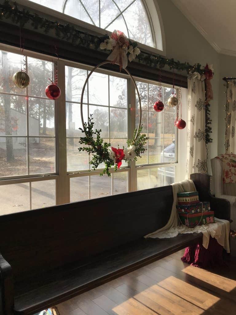 Life Full and Frugal/Christmas Hoop Wreath