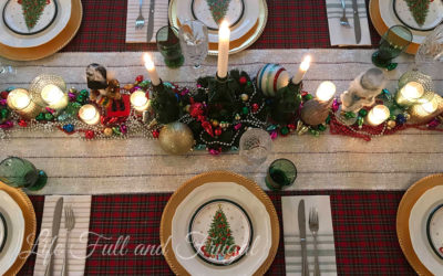 Louisiana Christmas Table Setting - Life Full and Frugal