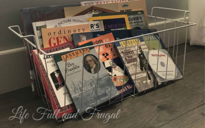 Vintage Freezer Baskets Repurposed for Storage - Life Full and Frugal