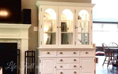 1980s China Cabinet Makeover - Life Full and Frugal
