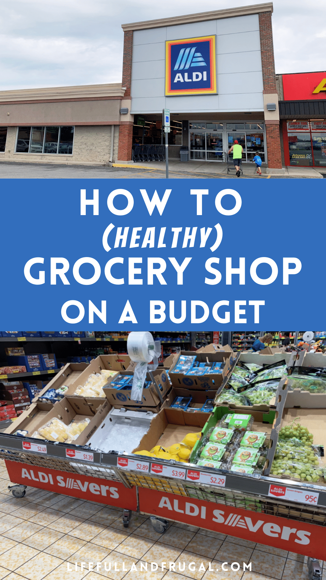 how to healthy grocery shop on a budget pin life full and frugal