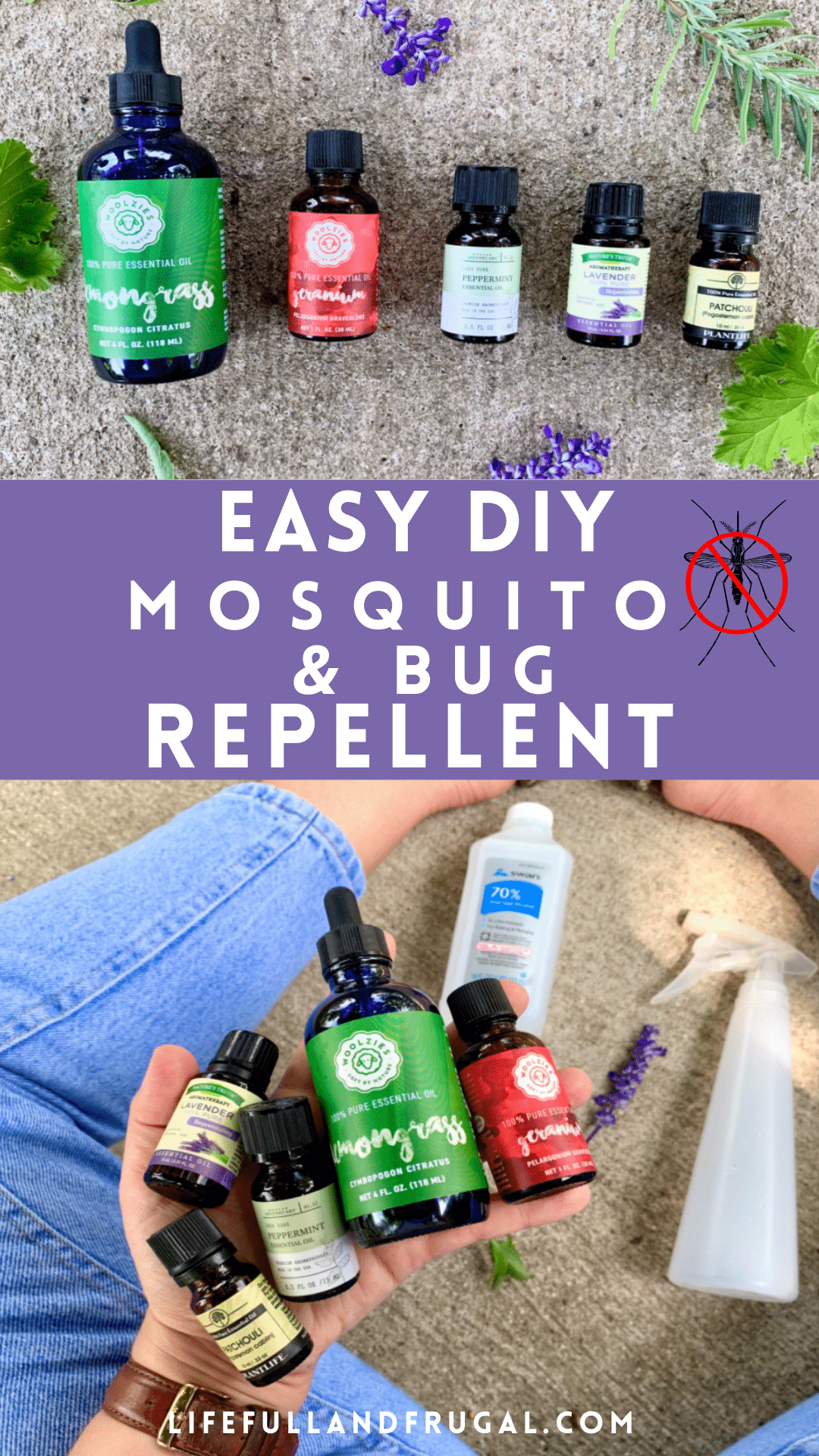 homemade mosquito repellent spray life full and frugal pin