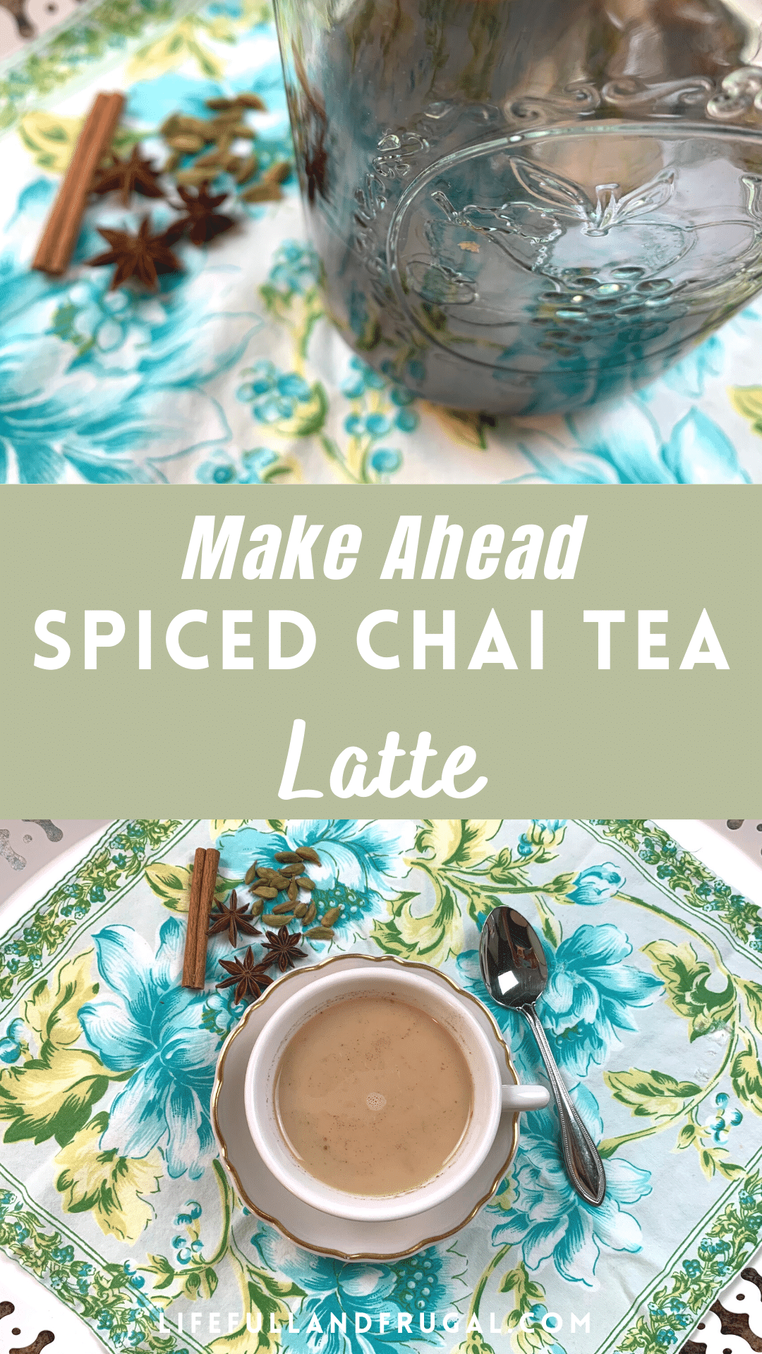 make ahead spiced chat tea latte Pinterest life full and frugal