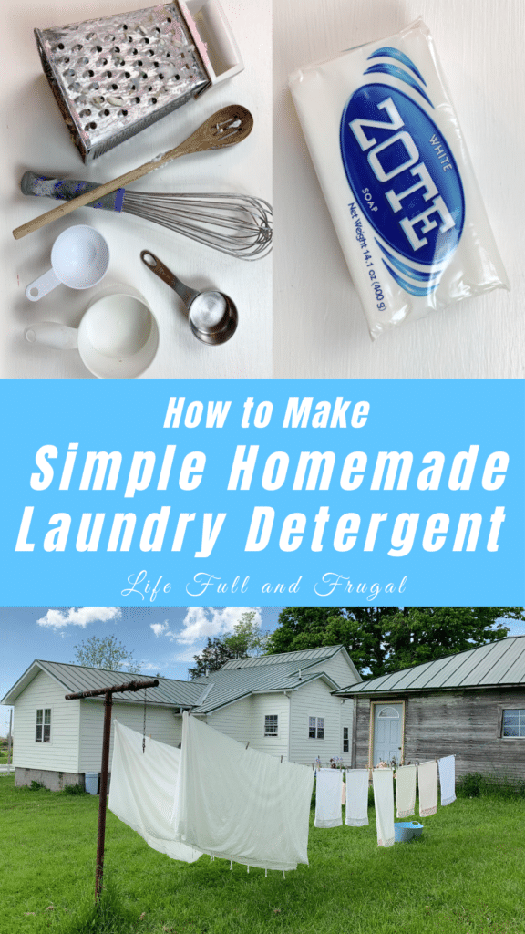 how to make simple homemade laundry detergent Pinterest life full and frugal