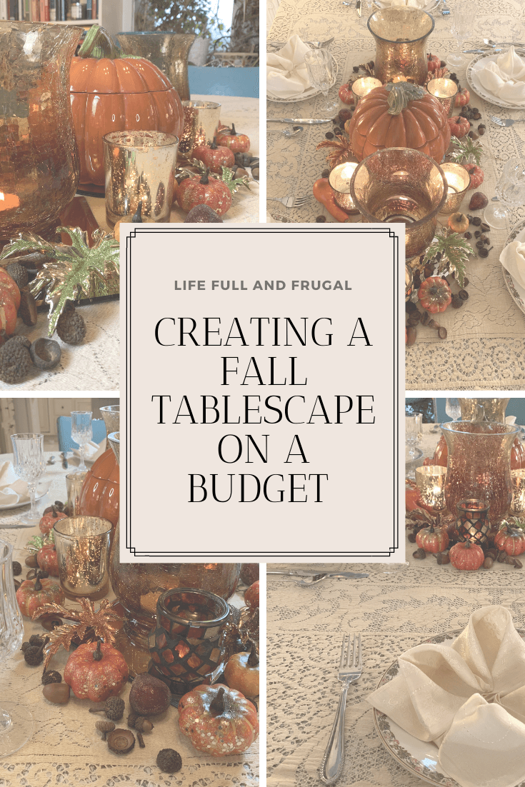 fall tablescape on a budget life full and frugal
