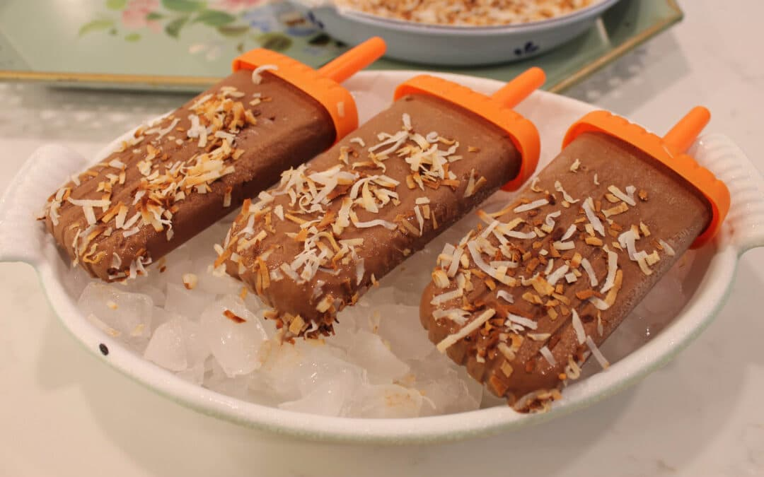 Homemade Toasted Coconut Fudgesicles