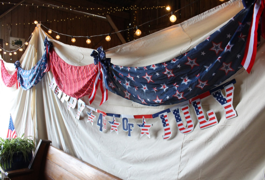 homemade Americana 4th of July bunting life full and frugal