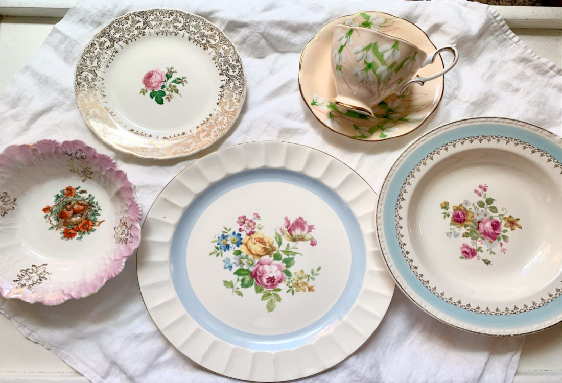 floral dishes hygge home
