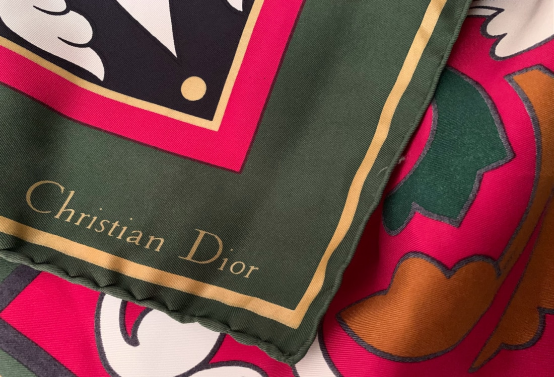 christian dior silk scarf life full and frugal