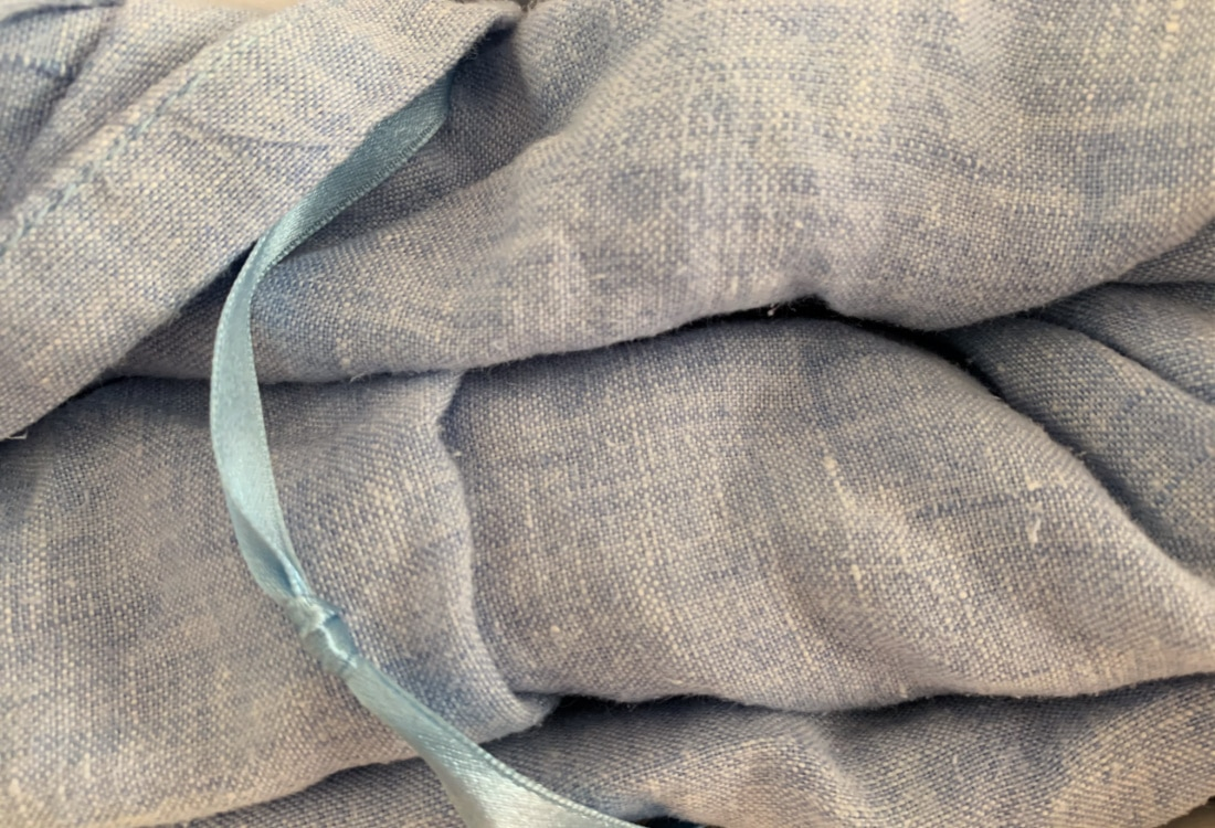 blue linen sheets life full and frugal