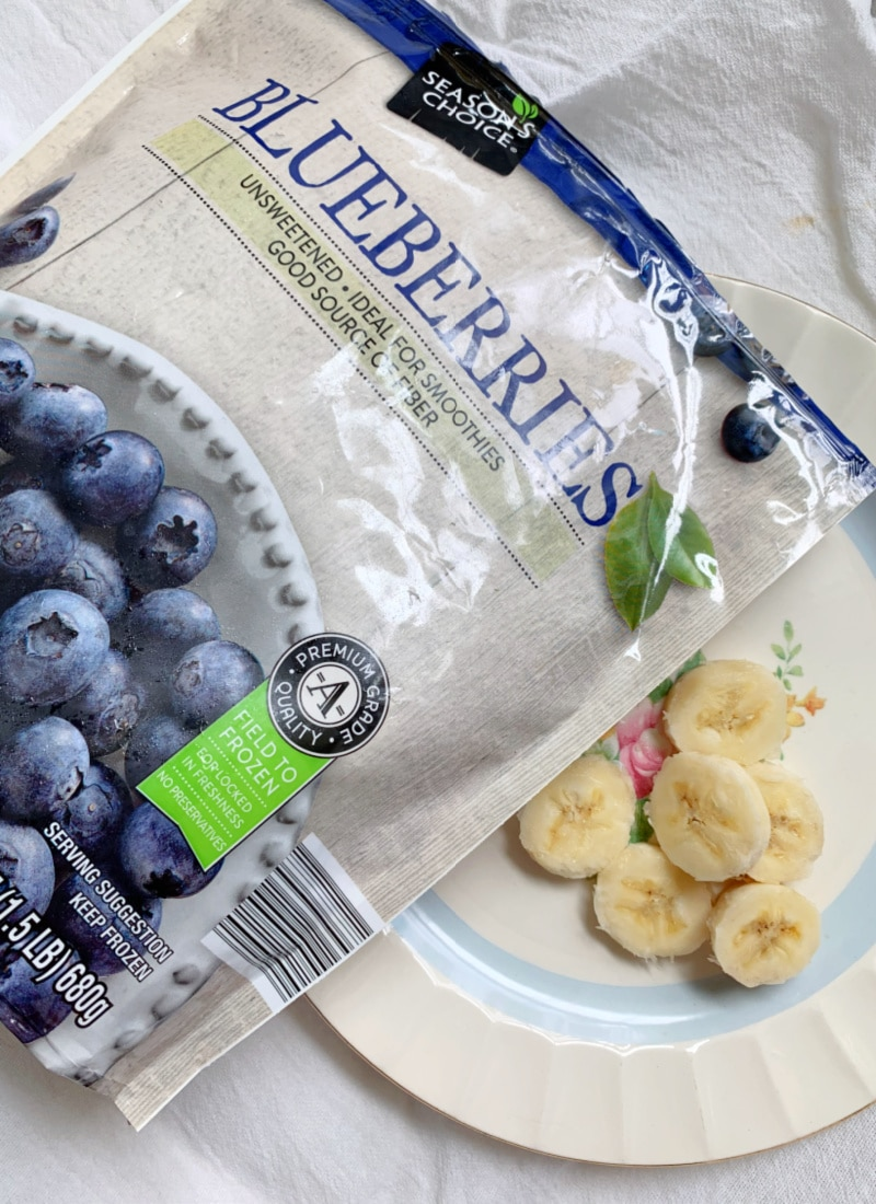 frozen blueberries and bananas