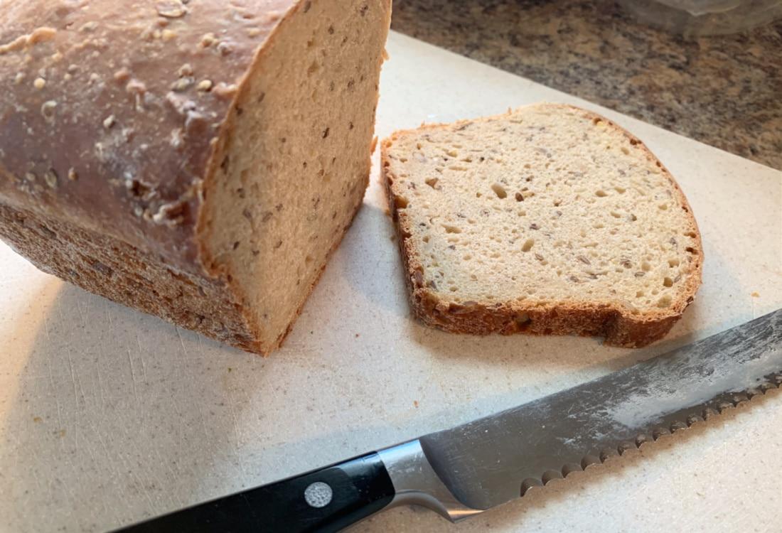 fresh sourdough bread on a cutting board hygge home