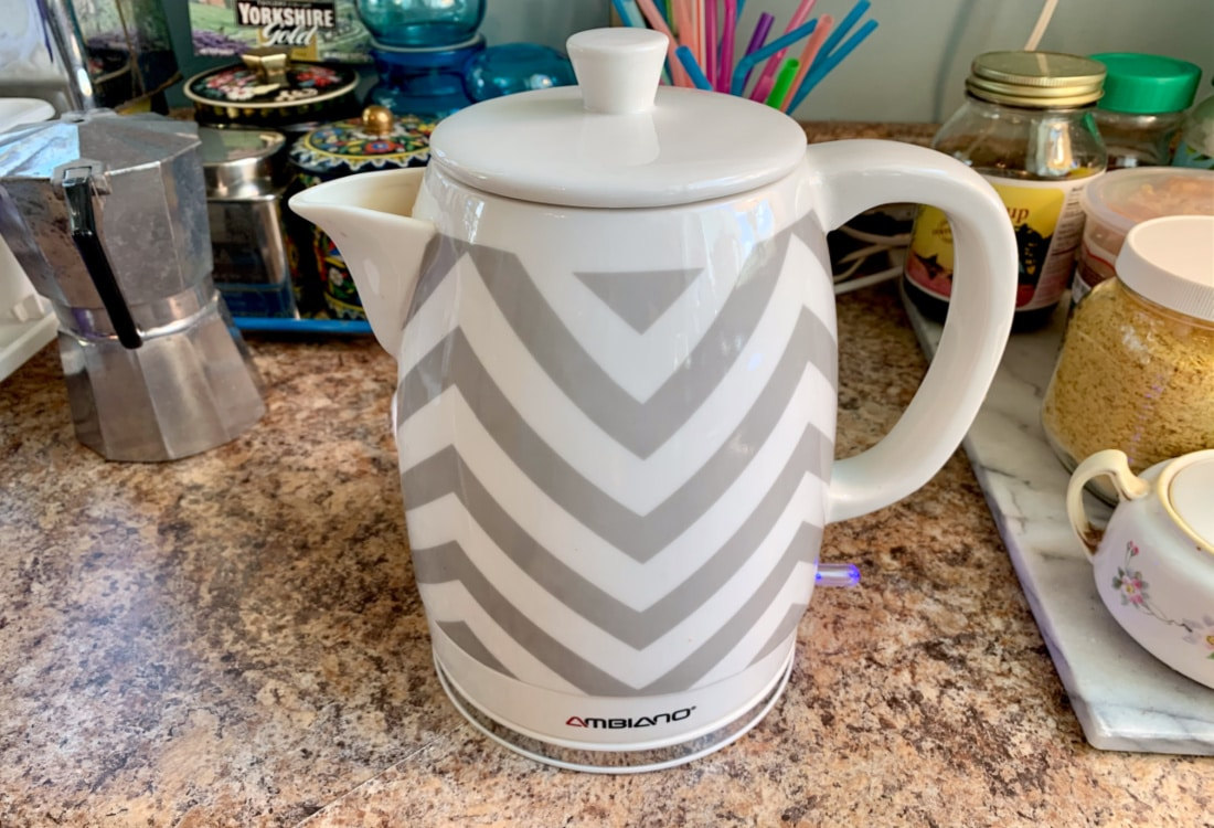 an electric kettle hygge home