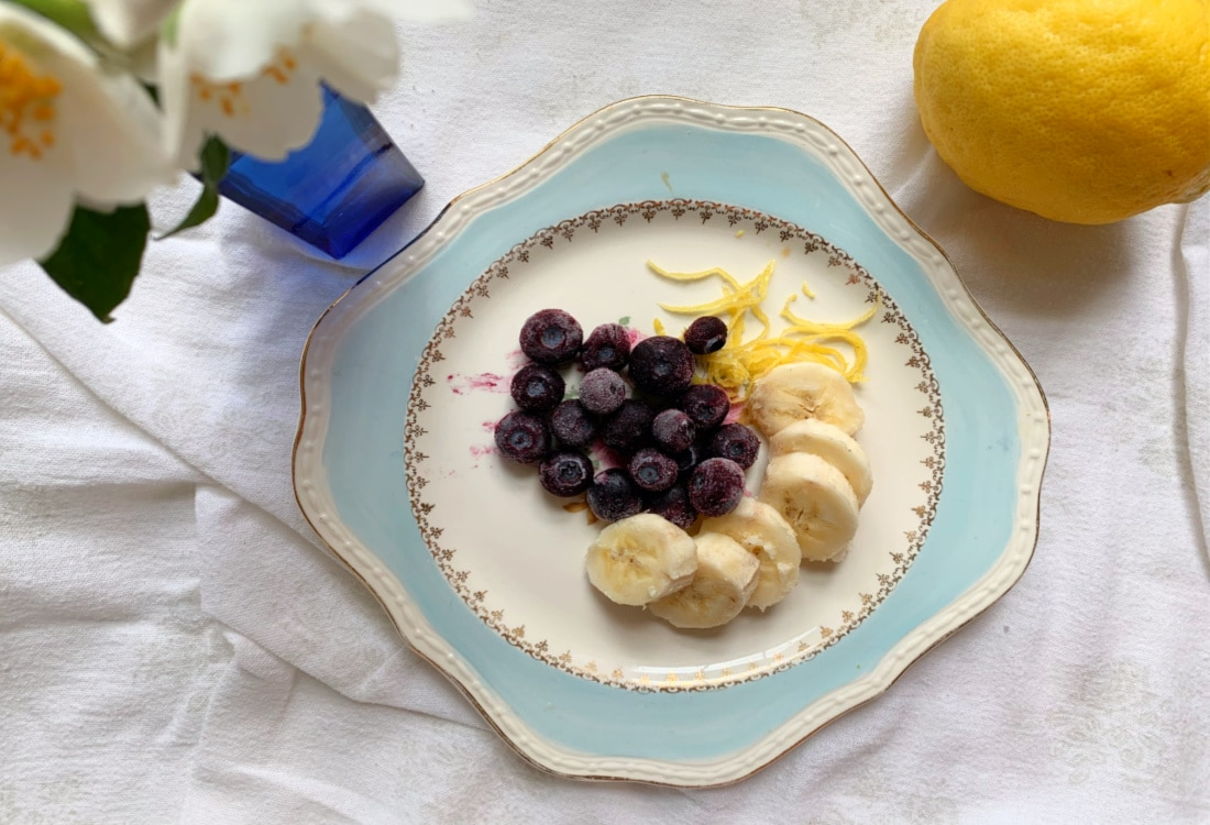 nannys blueberry banana delight blueberries and lemon