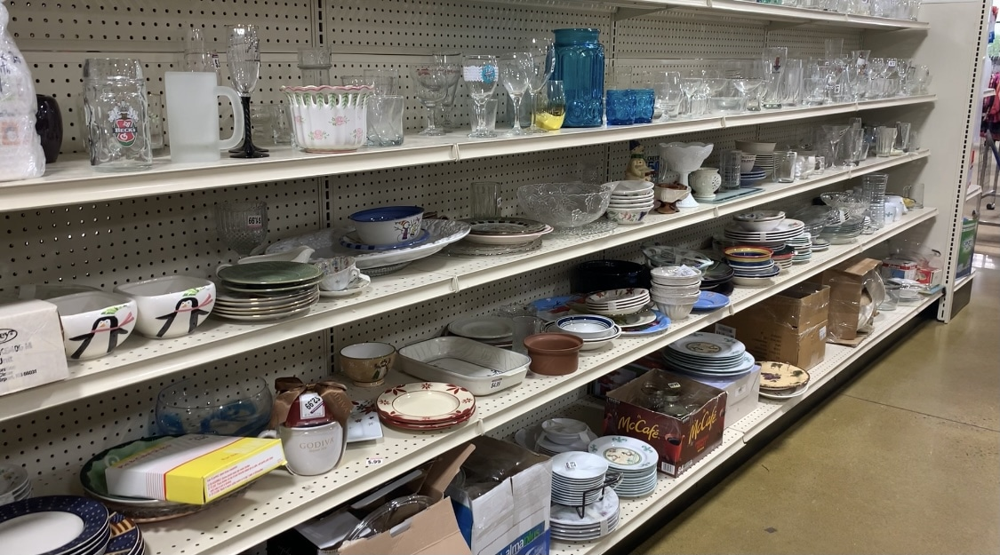the houseware section at goodwill life full and frugal
