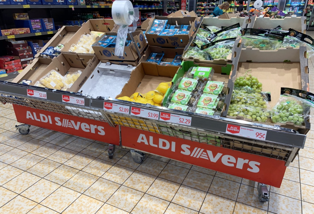 savers rack at Aldi life full and frugal