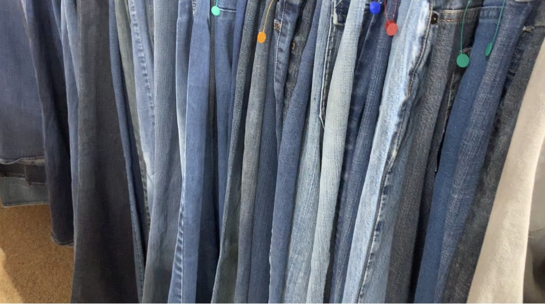 jeans at a goodwill store life full and frugal