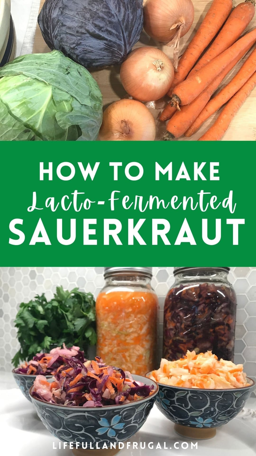 Simple Lacto-Fermented Sauerkraut - Life Full and Frugal