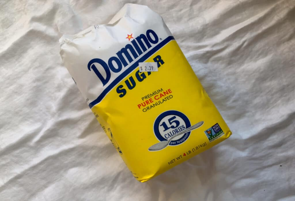 a bag of domino sugar life full and frugal