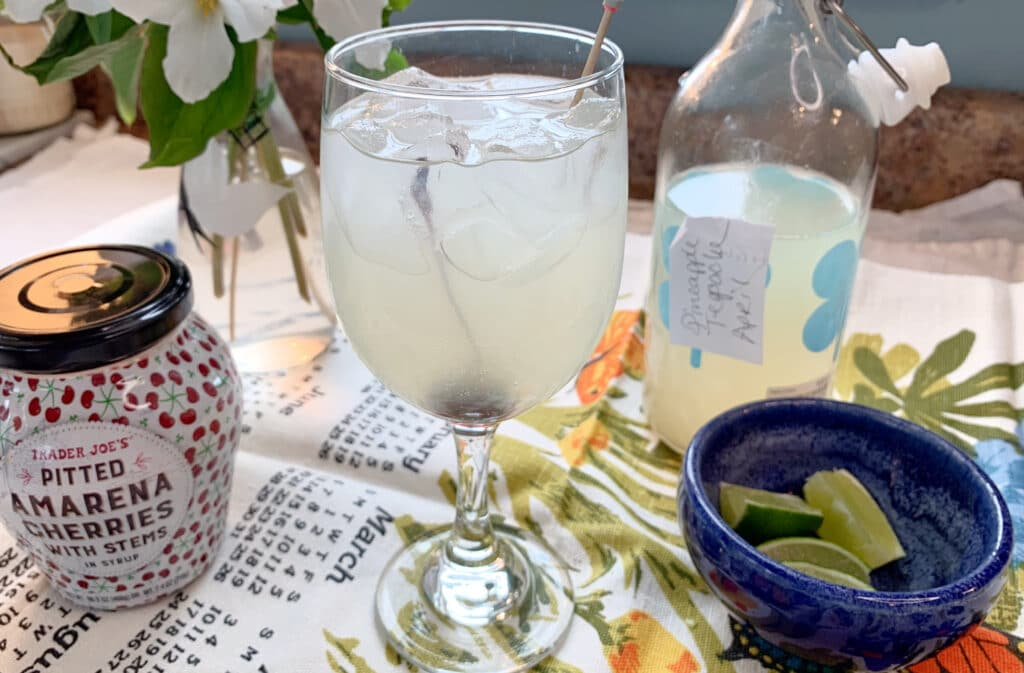 a glass of lacto fermented tepache life full and frugal