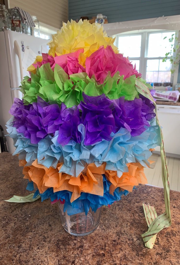 a multi colored easter egg pinata life full and frugal