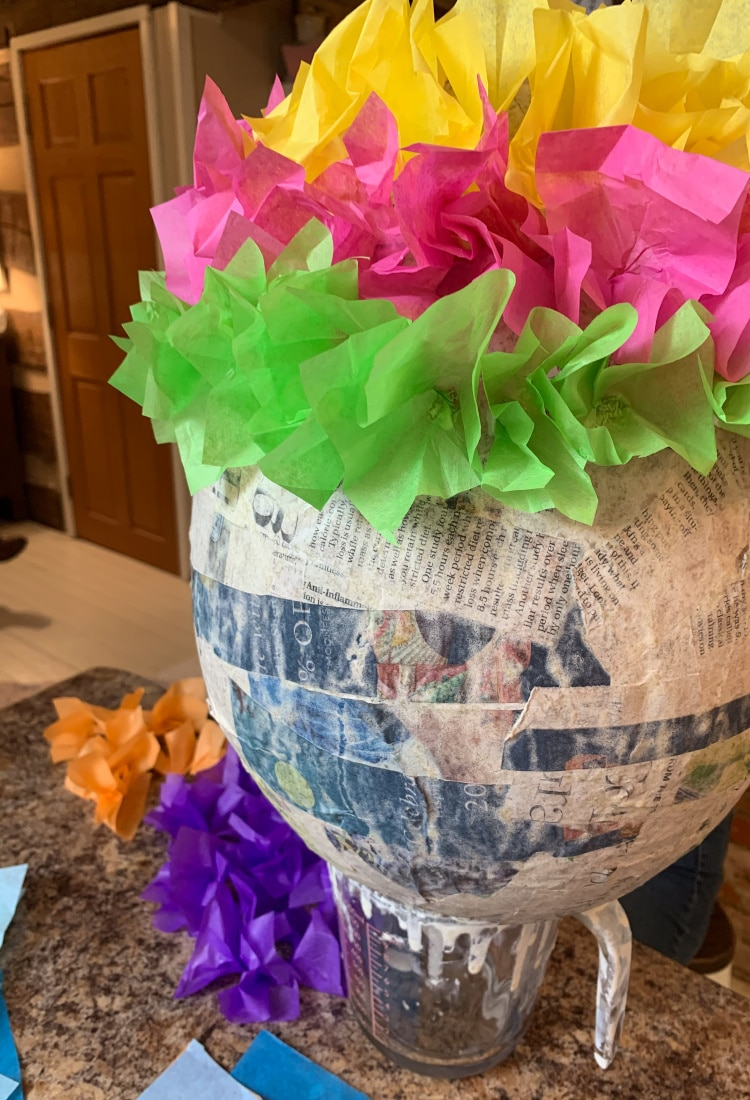 colorful easter egg pinata project life full and frugal