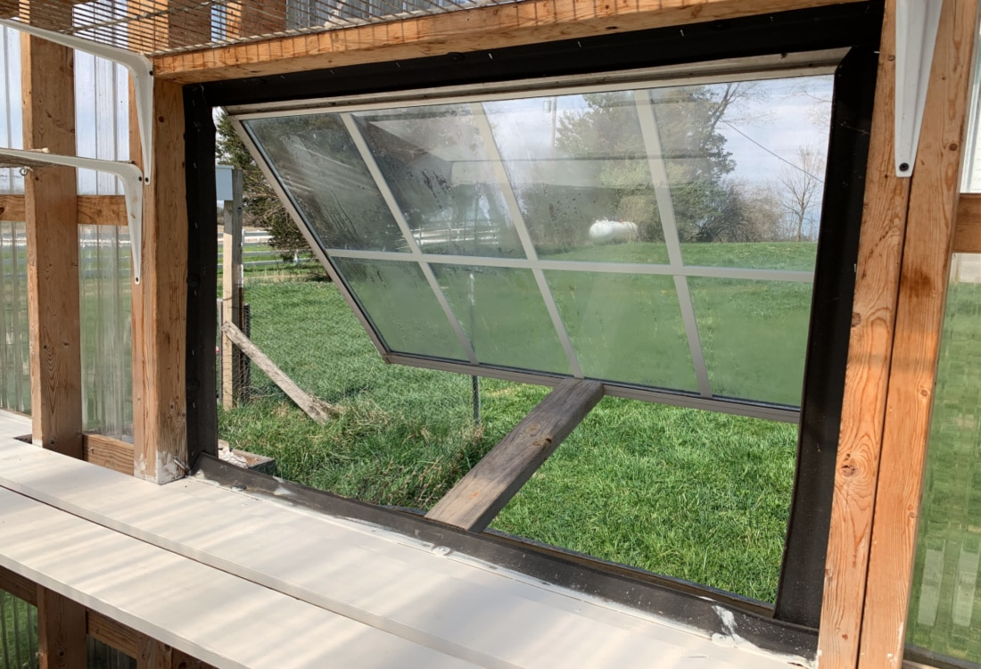 inside window our greenhouse made from recycled materials life full and frugal