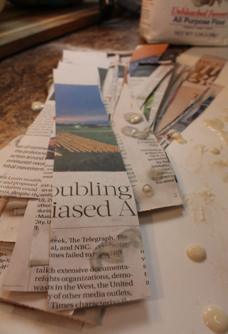 newspaper for a pinata life full and frugal