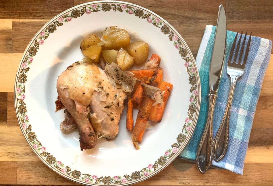 roast chicken with potatoes and carrots life full and frugal